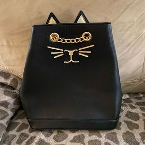 Super cute Black Cat Backpack Purse
